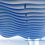 Акустические подвесные перегородки Двойные волны